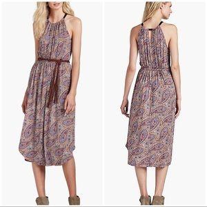 Lucky Brand Multi-Pattern Paisley Midi boho Dress